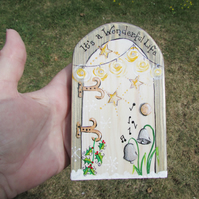 It's a Wonderful Life Fairy Door, Exterior or Interior use