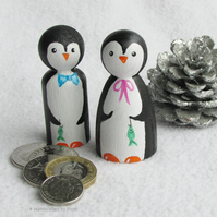 Peg Doll Penguins, Pair of Penguins