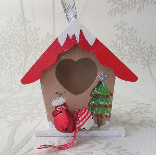 Hanging House Decoration for the Christmas Tree
