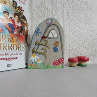 Fairy Door, hand painted onto wood, whimsical and magical for the home