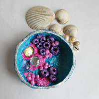 Papier Mache Ornamental Rock Pool Dish