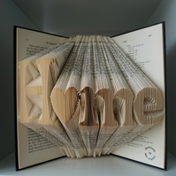 Christmas gift for new home-folded book art Home-house warming gift