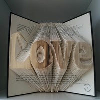 Valentine gift for love ones-folded book art Love-gift for her-gift for him