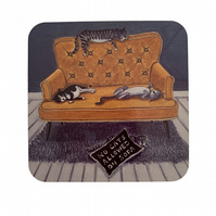 Drink coaster, gift for cat lover, birthday present for cat lover, cat coaster,