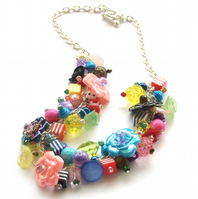 Colourful Cluster Necklace