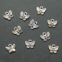10 small BUTTERFLY Charms