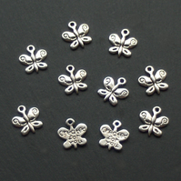 10 created for you BUTTERFLY Charms