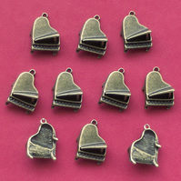 PIANO Charms x 10, Antique Bronze Tone charm, music, musical instrument