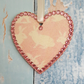 Bunny Heart decoration, Rabbit Hanging Decoration, country cottage chic