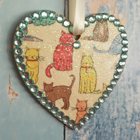 Cat Heart, Kitten Hanging decoration
