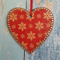 Snowflake Heart, Christmas Tree decoration
