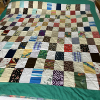 Colourful Patchwork quilt. Ideal for campervan, glamping or festivals