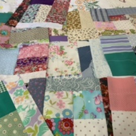 "Pretty scrappy 8"" patchwork squares"
