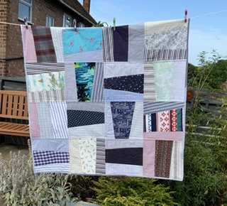 Repurposed vintage shirt quilt