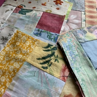 "10"" crazy upcycled patchwork squares"