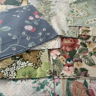 "40x10"" vintage fabric pack. From the 1940's to 80's"