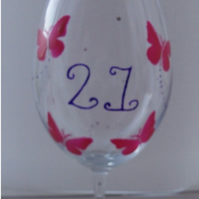 Butterfly Wine Glass - Personalised