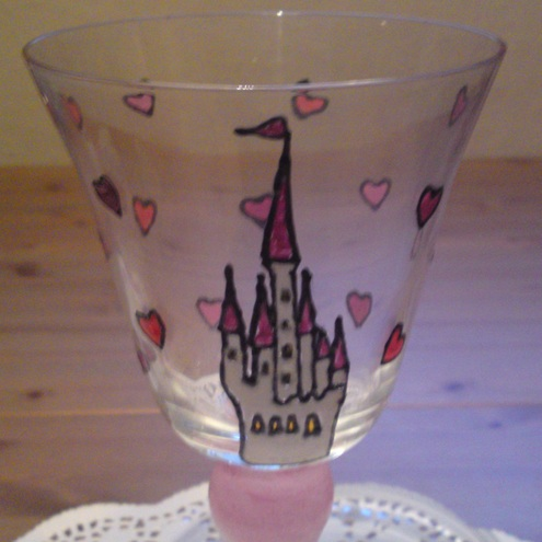 Princess Wine Glass - Some Day My Prince Will Come