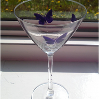 Butterfly Cocktail Glass - Personalised