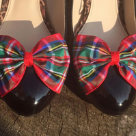 Tartan Shoe Clips Royal Stewart Bows for your shoes
