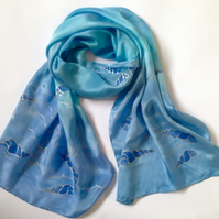 Luxe Silky Crepe de Chine Scarf 40x150cm