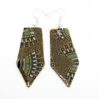 Earth Colours African Print Earrings
