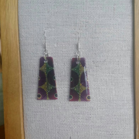 African Fabric Print Earrings