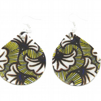 Large Flower Ghanaian Print Statement Earrings