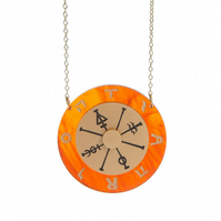 Wheel Of Fortune Tarot necklace - laser cut acrylic