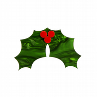 Holly Leaf Christmas brooch - laser cut acrylic
