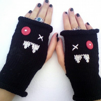 Custom Order for Jessica - Ugly Vampire Fingerless Gloves