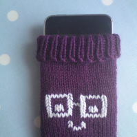 Phone Sock in purple