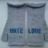 Tattoo Inspired Love/Hate Mittens