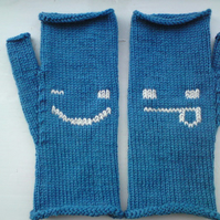 Cheeky Emoticon Mittens