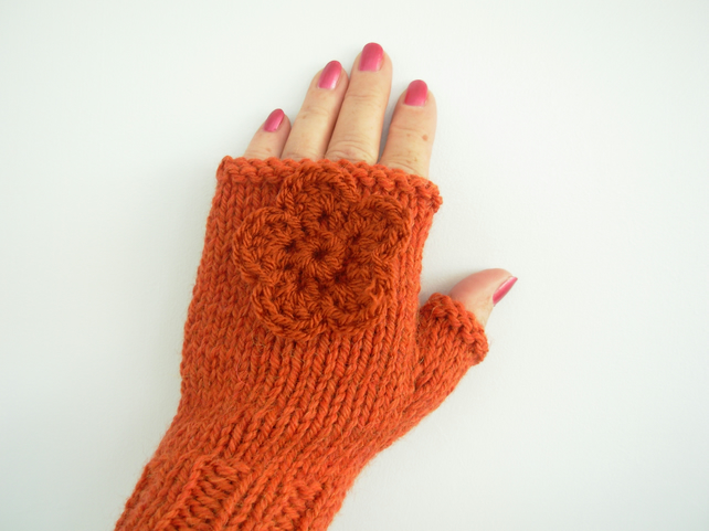 Hand Knitted Fingerless Mitts Adults