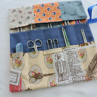 Knitting Needle Roll Holder Patchwork