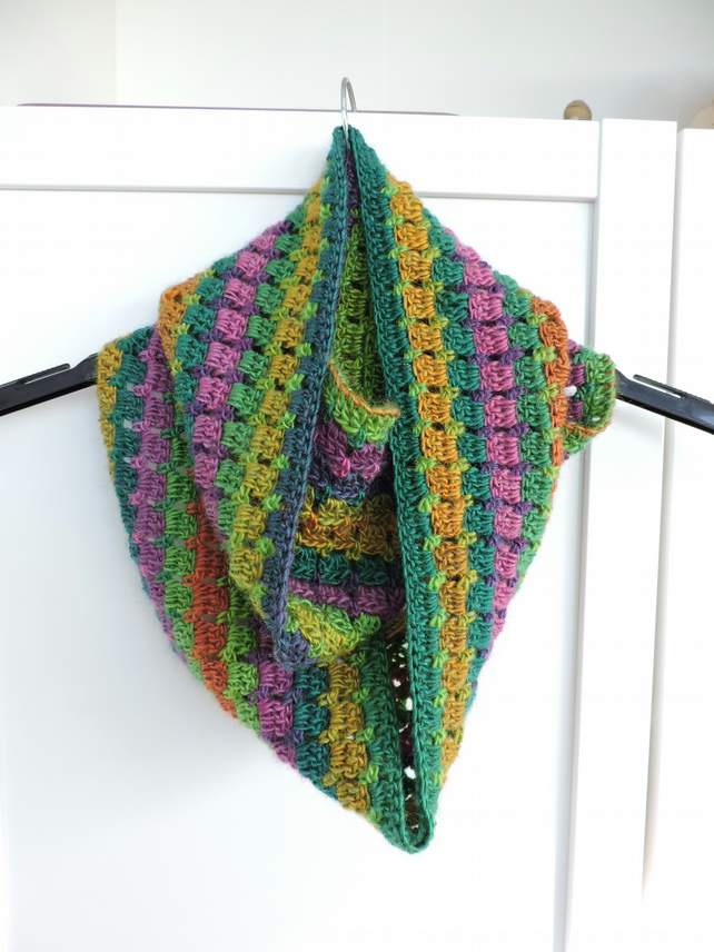 Crochet Infinity Scarf Multi Coloured