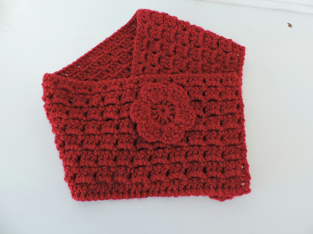 c960c942527 Neck Warmer, Cowl, Scarf Adults Red