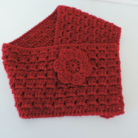 Neck Warmer, Cowl, Scarf  Adults Red