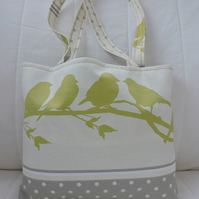 Tote Bag, Shopping Bag, Craft Bag, Little Birds