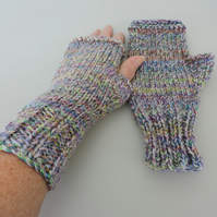 Fingerless Mitts for Adults Hand Knitted
