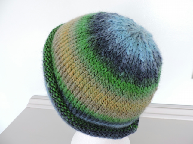 ef7bd4320 Adults Knitted Beanie Hat Blue, Green, Mustard, Taupe