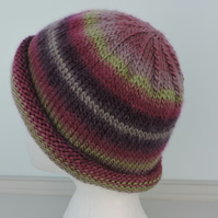 Beanie Hat Plum, Purple, Olive, and Rose Pink