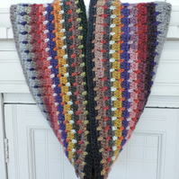 Crochet Infinity Scarf in a Miriad of Pretty Colours