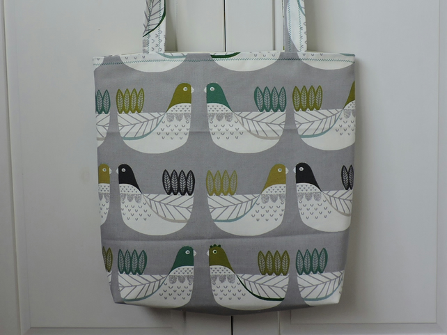 Tote Bag Shopping Bag Craft Bag Birds Handmade