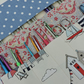 Knitting Needle and Crochet Hook Roll Seaside Beach Huts, Spots and Paisley