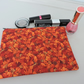 Make Up Bag, Zipped Pouch  Autumn Leaves