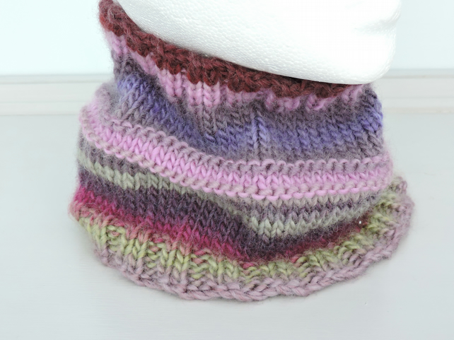 Cowl or Headband, for Adults Chunky Acrylic and Wool