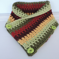 SALE now 7.50 Crochet Cowl, Neck Warmer