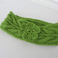 SALE now 5.00 Headband, Ear Warmers  Green